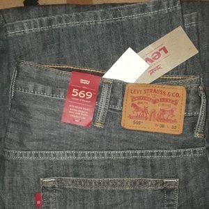 MEN'S NEW LEVI'S  569 JEANS  LOOSE STRAIGHT